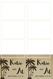 Rustic palm tree template